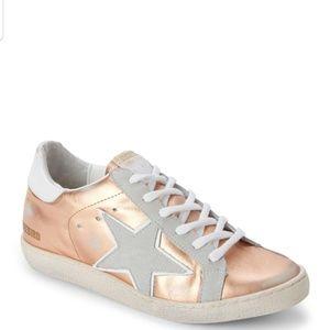 Freebird by Steven rose gold sneakers size 8